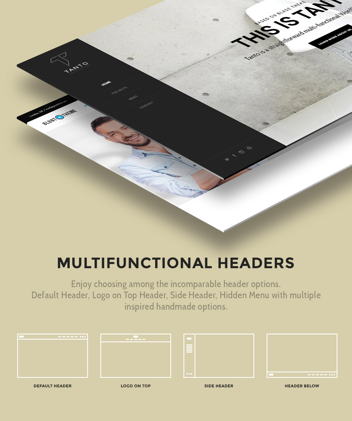 Multifunctional Headers