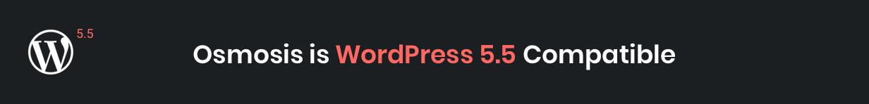 Osmosis WordPress 5.5