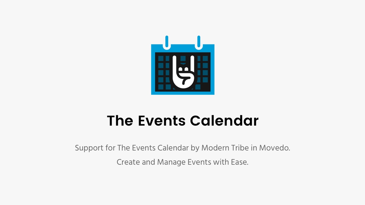 Movedo Events Calendar
