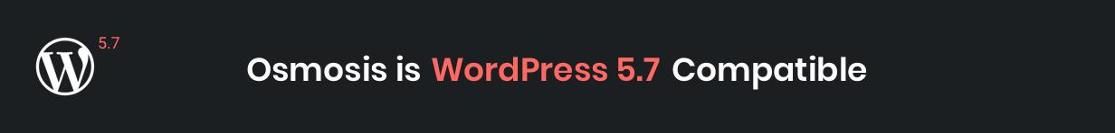 Osmosis WordPress 5.7