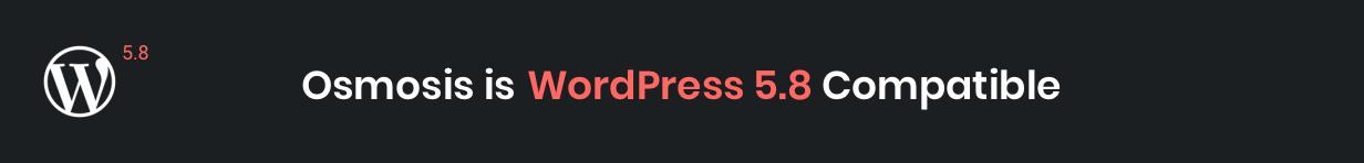 Osmosis WordPress 5.8