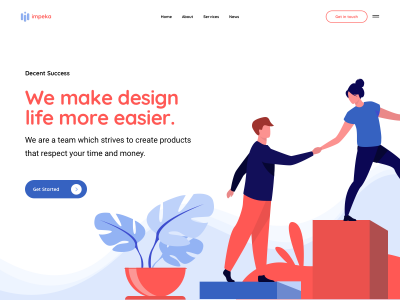 Impeka Corporate - Modern, creative and clean case study for design agencies, startups and freelancers. Created with Impeka Premium WordPress theme by Greatives.