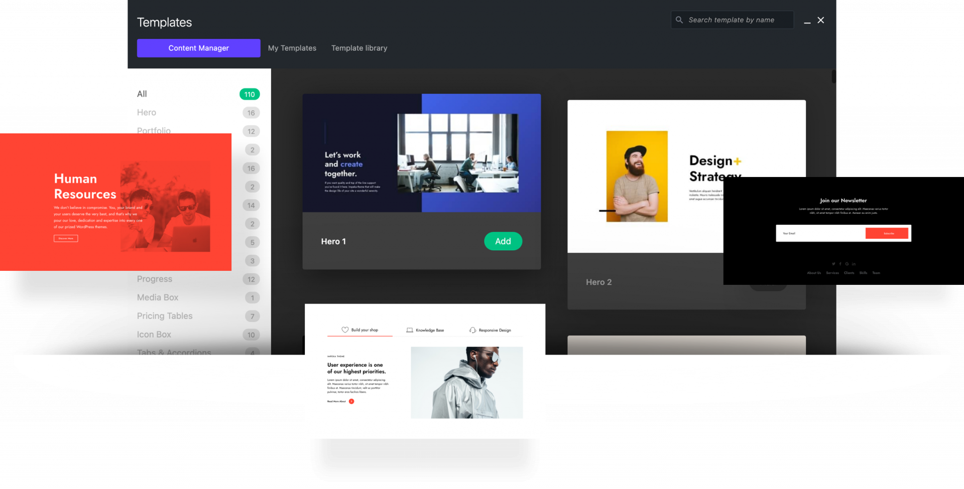 Content Manager in Impeka - Premium WordPress Multipurpose theme by Greatives