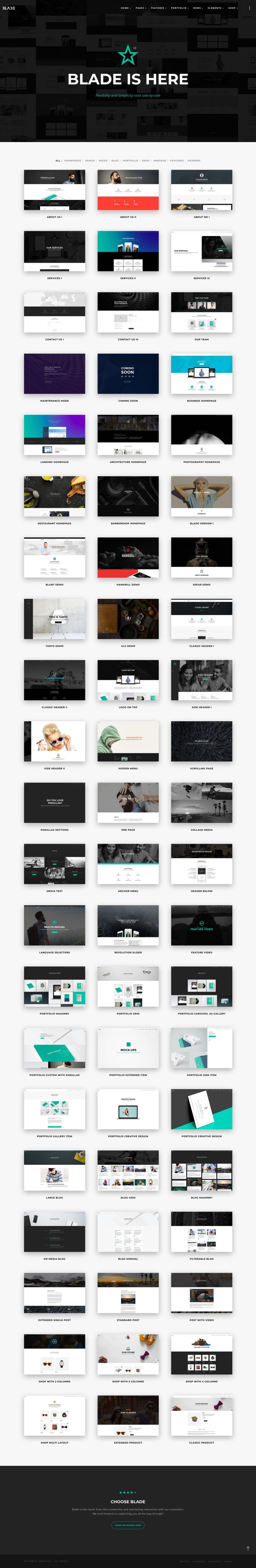 Greatives Premium WordPress themes, Blade theme