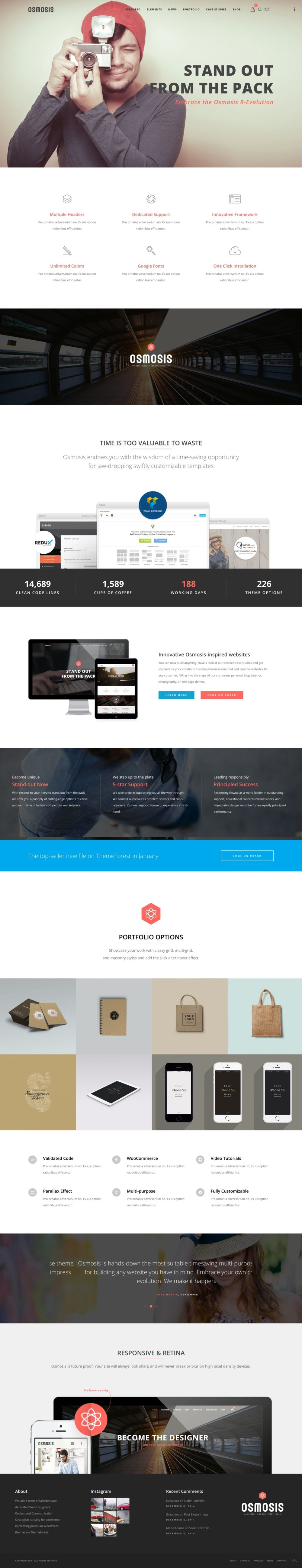 Greatives Premium WordPress themes, Osmosis theme