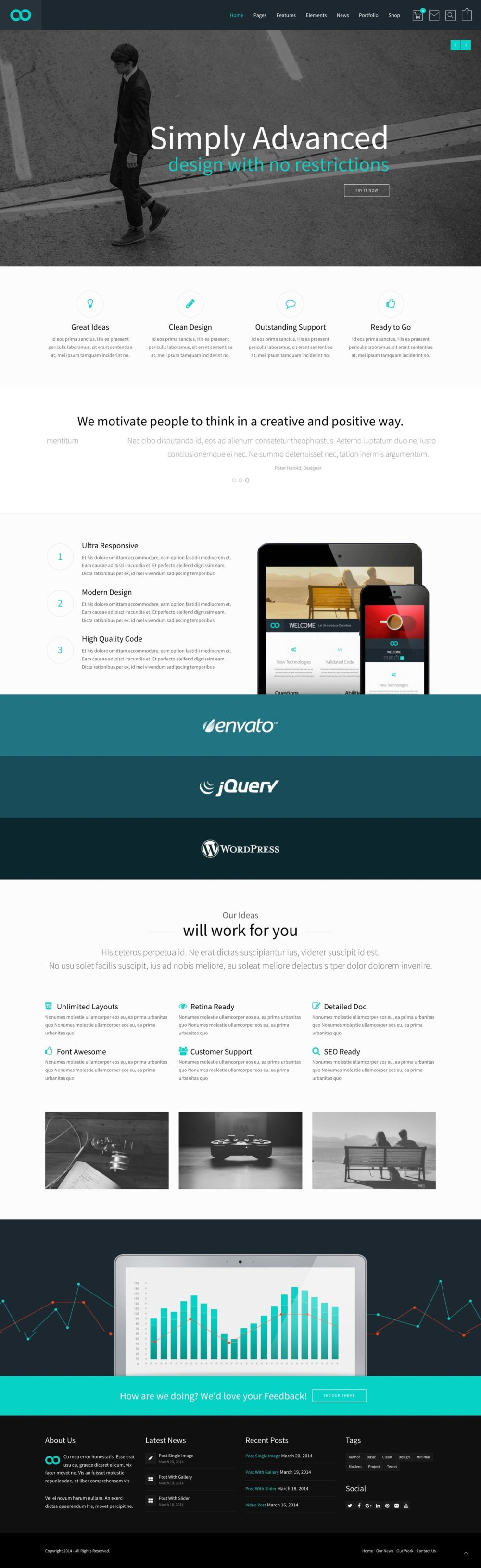 Greatives Premium WordPress themes, Reload theme