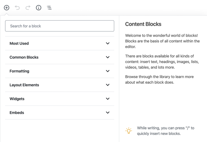 Gutenberg Content Blocks