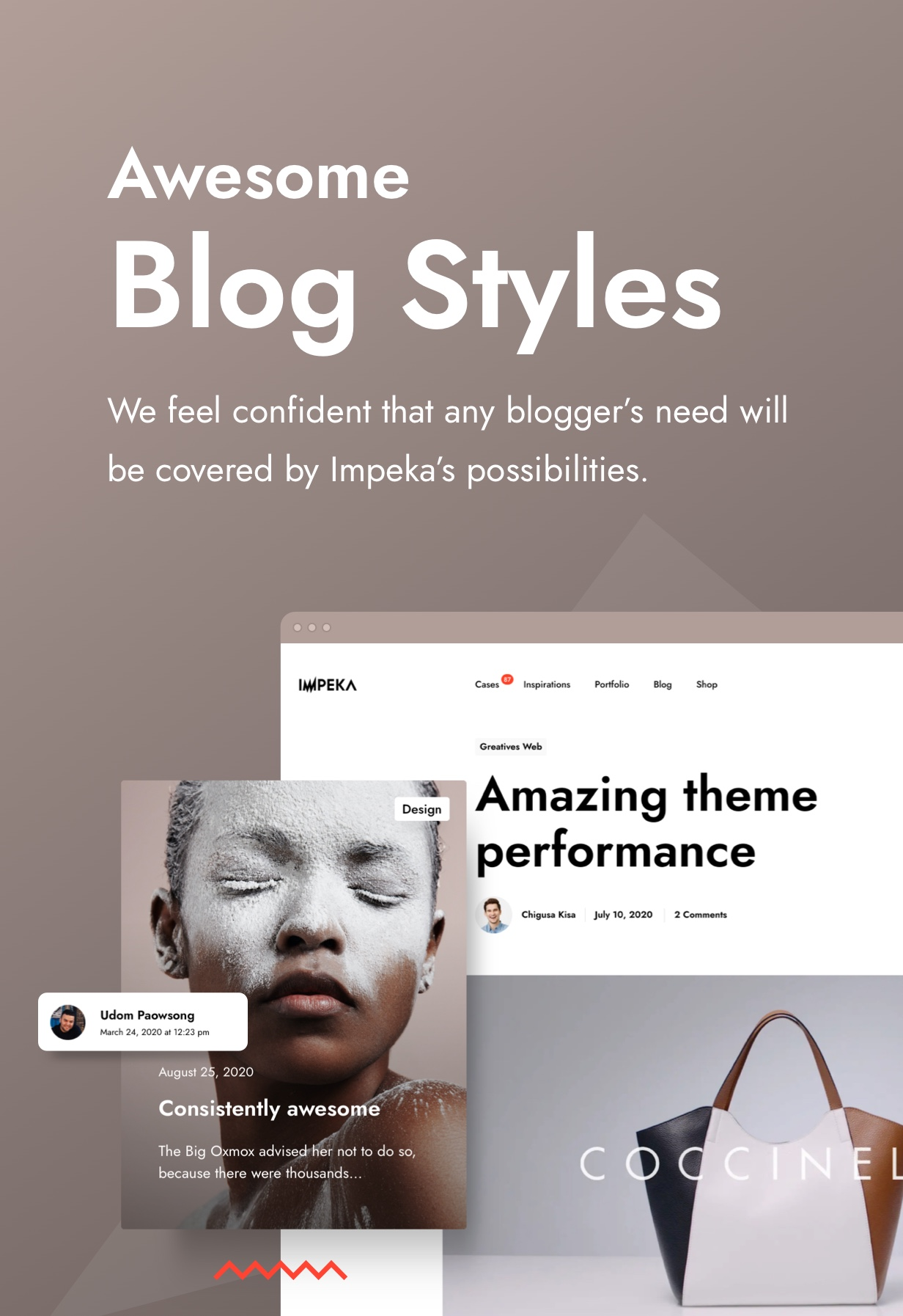 Impeka Premium Multipurpose WordPress theme for your Blog by Greatives