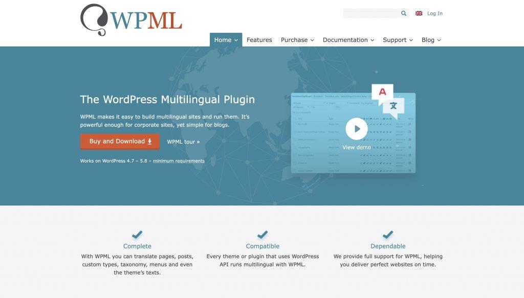 WPML translation plugin